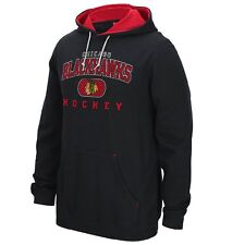 Chicago Blackhawks Faceoff Collection Black Playbook Hooded Sweatshirt Hoody