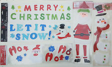 Christmas xmas Gel Window Stickers snowflake merry christmas snowflakes 15cm