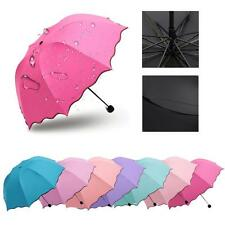 2015 Women Lady Princess Magic Flowers Dome Parasol Sun/Rain Folding Umbrellas