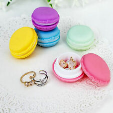 Candy Color Mini Macarons Jewelry Earrings Outing Small Storage Case Box Gift