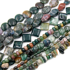 "Natural Colorful Indian Agate Gemstones Other Shape Loose Beads 15.5"" Pick Size"
