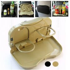 Car Back Seat Dinning Table Laptop Drink Food Cup Tray Stand Desk Organiser Rack