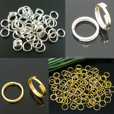 Wholesale 80-300Pcs Metal Silver Gold Open Rings Connectors Jewelry Findings