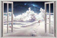 Fantasy View through Window Canvas Print - Choose your Size