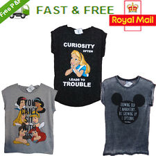 Disney Licensed Alice Mickey Mouse Snow White Character T shirt tee top Primark