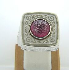 KR001 SIZE 6, 7, 9 NEW AUTHENTIC KAMELEON STERLING SILVER SQUARE ENAMEL RING