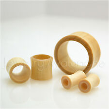 Pair of Double Flare Light Sawo Wood Organic Ear Tunnel Plugs Multiple Gauges