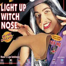 Light Up Witch Nose Halloween Red Flashing Fancy Dress Costume Prop Panto Oz