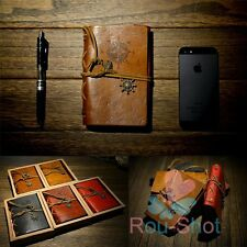Hot Vintage Notepad Retro Travel Leather Notebook Journal Diary Sketchbook Memo