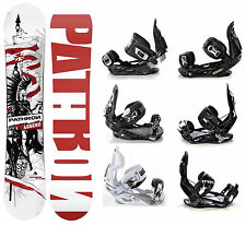 Snowboard Pathron Legend White + Bindings Raven s250, s400, s220 or Team - New!