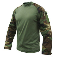 Woodland Camo Tactical Response Combat Shirt by TRU-SPEC 2560 / FREE SHIPPING