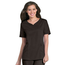 Scrubs Urbane Ultimate Chloe Sweetheart Neck Top 9550 Espresso FREE SHIP!