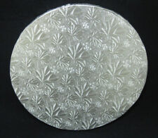 """Round Silver Cake Fold-Under Board, 1/2"""" Thick - PACK of 6"""
