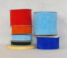 "1/4"" X 50 Yard Plain Sheer Organza Ribbon Multi Color"