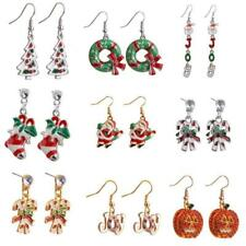 Women Ladies Various Design Christmas Party Hook Dangle Clip Earrings Studs Xmas