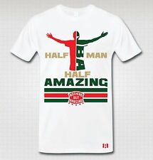 """HALF MAN HALF AMAZING"" T-SHIRT to Match Foamposite PRO ""WHITE G"""