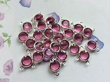 Swarovski Channel Cut Vintage rhinestones x6 Craft 2 loop 39ss 8mm Post Free UK
