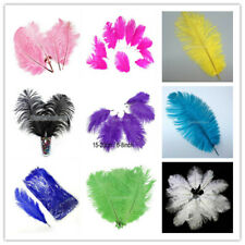 Ostrich Feathers 15-20cm 10pcs - For Fascinators Hats Craft DIY making 9 Color