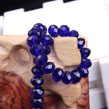Royalblue Rondelle Faceted Crystal Glass Spacer Bead Jewelry Finding 4/6/8/10mm