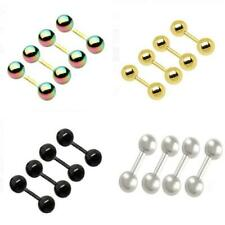 4 x 316L Surgical Steel Ball Tongue Bar Labret Ring Studs Body Piercing Jewelry