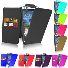 Magnetic Top Wallet Flip Book Holder Leather Case Cover For HTC Various Phones