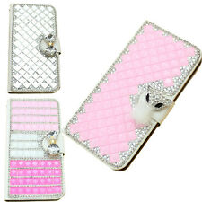 3D bling bow fox leather girly wallet flip diamond case cover iphone ipod htc