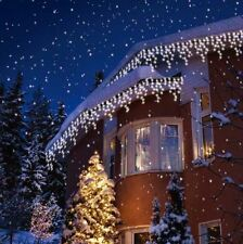 CHRISTMAS OUTDOOR SNOWING LED ICICLE LIGHTS 240 TO 720 WHITE PARTY XMAS