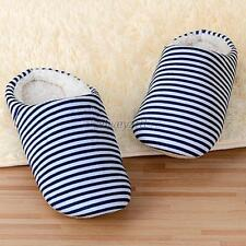 Couple Comfort Striped Cute Warm Shoes Slippers Antislip House Indoor Sandal A96