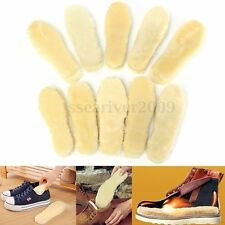 1 Pair Unisex Sheepskin Fur Insoles Pads Replacement For Shoes Boots Rainboots