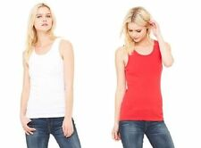 Bella Ladies Womens Baby Rib 100% Cotton Tank Top T-Shirt Tee S M L XL 2XL BL048