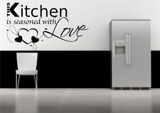 Kitchen Love Seasons Wall Art Sticker Quote Decal Transfer Mural Stencil Tattoo