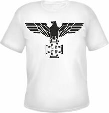 IMPERIAL EAGLE T-Shirt - Iron Cross - WHITE/BLACK - S to 3XL - Iron Cross