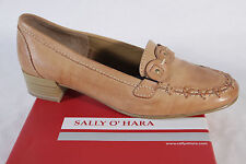 Sally O'Hara Women's Slip-ons, brown, Rubber sole, NEW