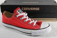 Converse All Star Lace up Sneakers trainers red, Textile/ Canvas, New