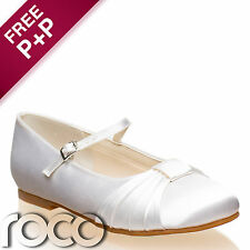 Girls White Communion Shoes, Flower Girl Shoes, Bridesmaid Shoes, Prom Shoes