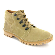 ROAMERS TAUPE SUEDE LEATHER MENS LACE-UP GRIP TREAD DESERT BOOT SHOES UK6-12