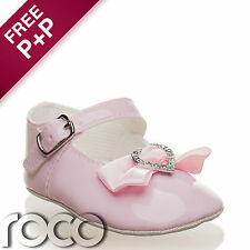 Baby Girls Pink Flower Girl Shoes, Baby Girls Pink Shoes, Toddlers Shoes