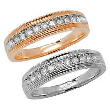 9ct Gold 11 Stone Diamond (0.25ct) Half Eternity Ring or Wedding ring (Band)