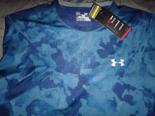 UNDER ARMOUR CAMO PATTERN TECH SHIRT FITTED L XL 2XL MEN NWT
