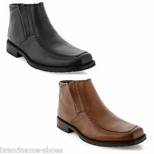 MENS JULIUS MARLOW KREST FORMAL CASUAL LEATHER BLACK BROWN SHOES WORK BOOTS