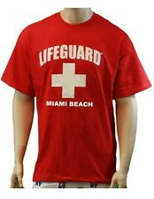 Lifeguard T-Shirt Miami Beach Official Licensed Life Guard Tee Red