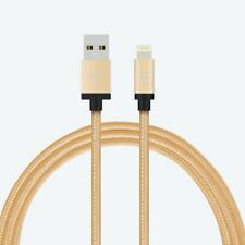 Apple Certified MFI Lightning Cable Sync Charger Nylon Braided Aluminum Caps -1M