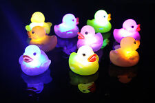 1pc Baby Kid Bath Bathing Duck Multi 6S Color Changing US Flashing LED Toy