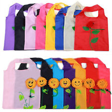 Hot Fashion Shopping Bag Rose Sunflower Ecofriendly Bag Smiling Face Folding Bag