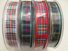 BERISFORDS 16MM TARTAN RIBBON - ROYAL STEWART DRESS STEWART MACKENZIE GORDON