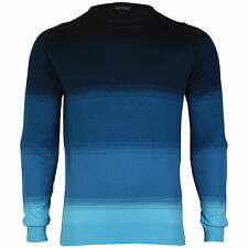 John Smedley Corsten Mens Striped Crew Neck Pullover