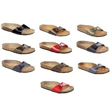 Birkenstock Madird Sandals Birko-Flor - regular or narrow - red - blue - brown