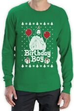 Ugly Christmas Sweater Jesus Birthday Boy Xmas Holiday Long Sleeve T-Shirt Gift