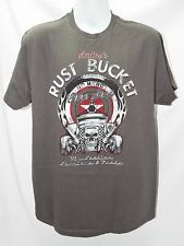 RUST BUCKET AUTO GROUP NO MERCY RAT ROD RACING T-SHIRT Ford 6693