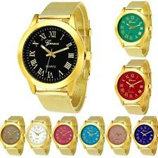 Christmas Womens Classic Gold Geneva Quartz Stainless Steel Coloful Wrist Watch